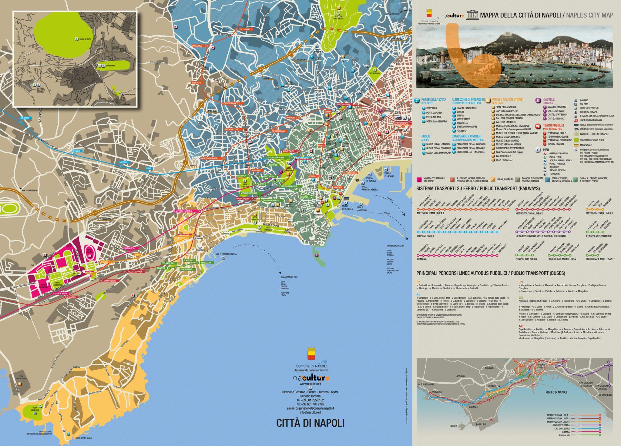 Napoli city map